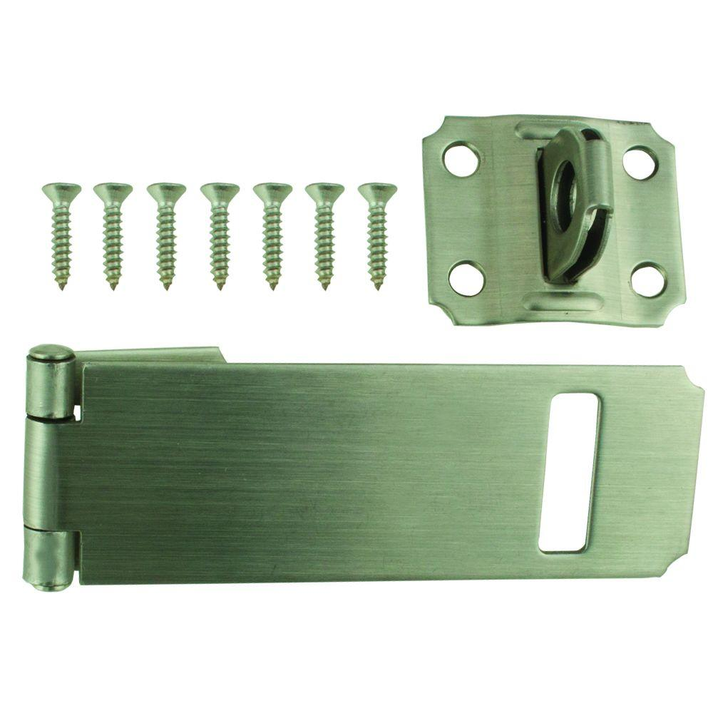 4 1 2 In Stainless Steel Adjustable Staple Safety Hasp