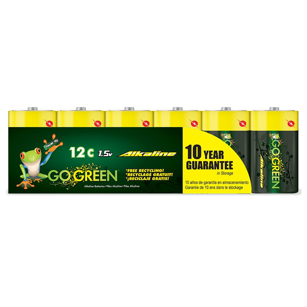 Power By Go Green C Alkaline Battery (12 per Pack)