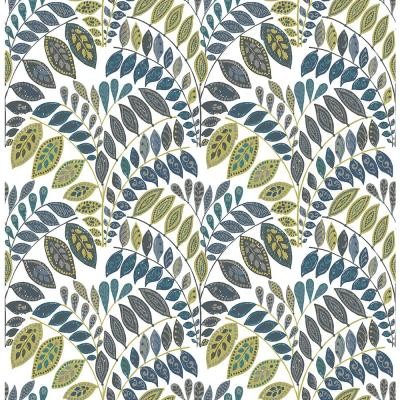 56.4 sq. ft. Fiddlehead Green Botanical Wallpaper