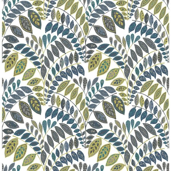 A-Street 56.4 sq. ft. Fiddlehead Green Botanical Wallpaper 2821-25142