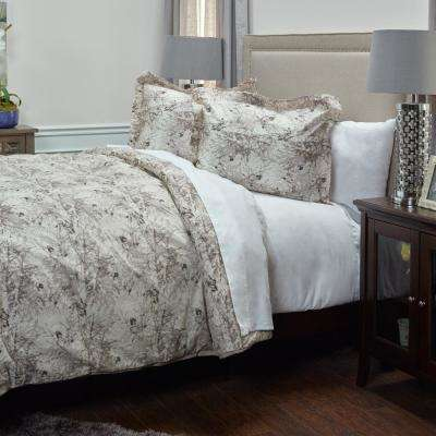 Vintage Butterfly Pattern 3-Piece Queen Bed Set