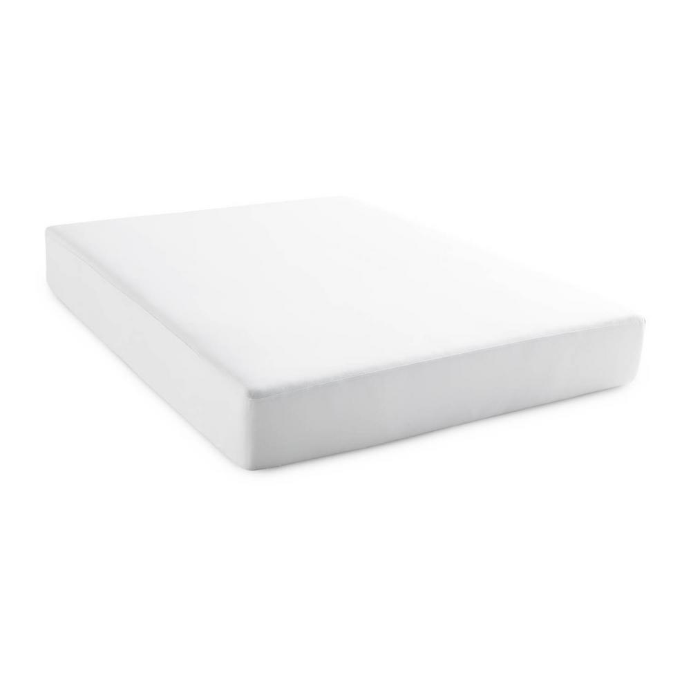 Brookside Brookside Tencel Jersey Fabric Polyester 5-Sided Twin XL Mattress Protector, White