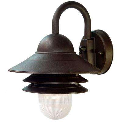 Mariner Collection 1-Light Architectural Bronze Outdoor Wall Lantern Sconce