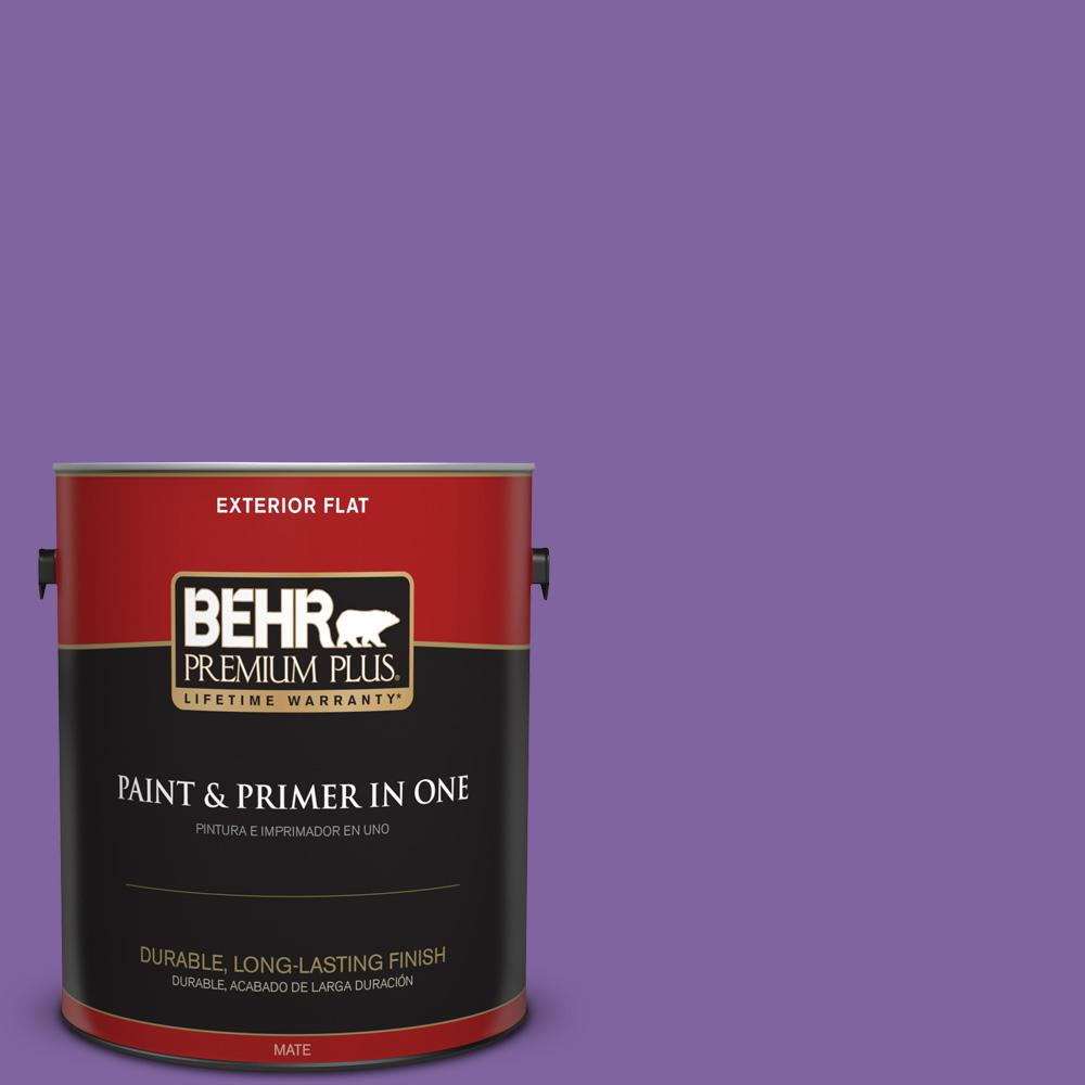 1 gal. #PPU16-03 Purple Paradise Flat Exterior Paint