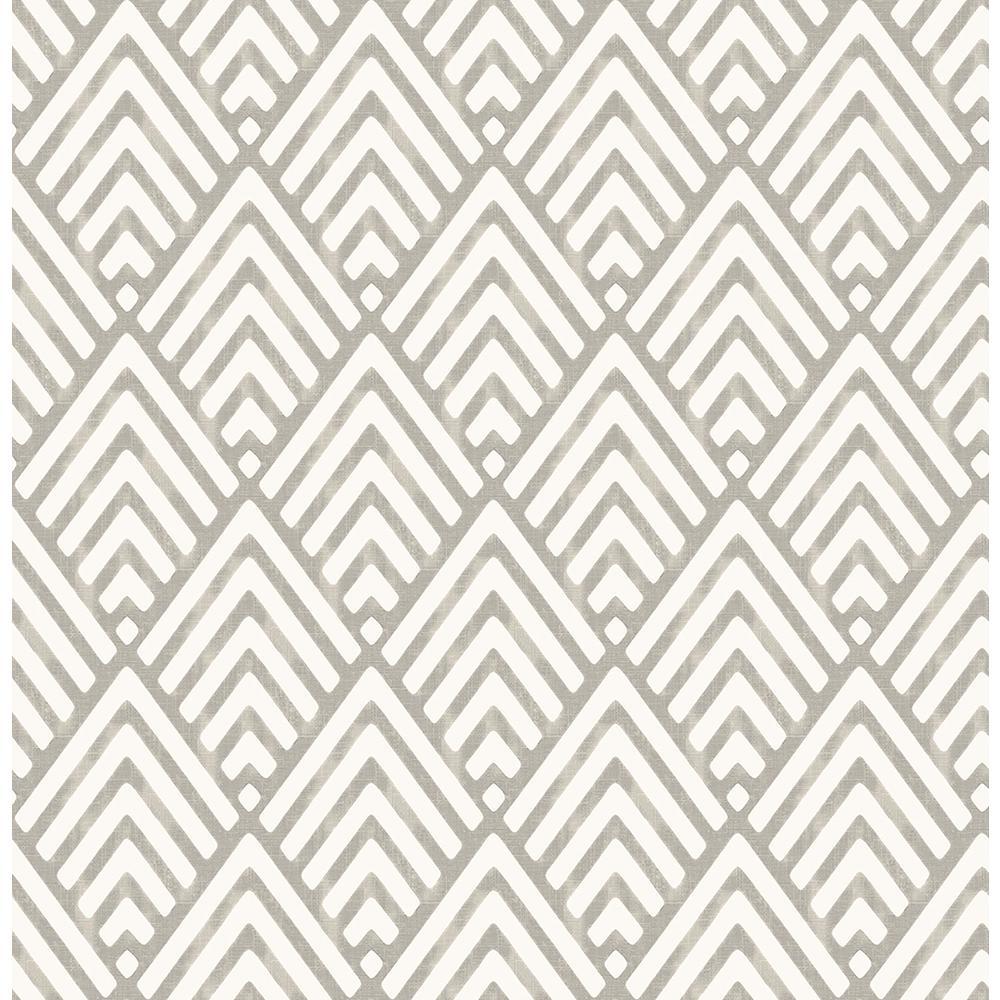 Brewster Vertex Taupe Diamond Geometric Wallpaper 2704 21825 The