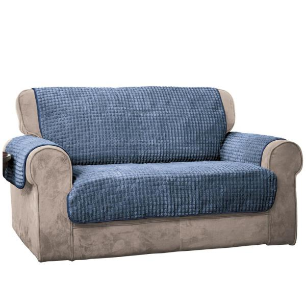 Innovative Textile Solutions Blue Puff Sofa Furniture Protector 9050SOFABLUE