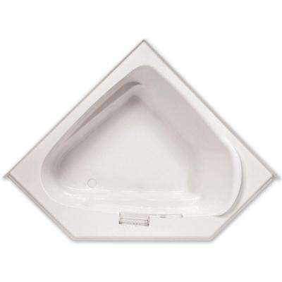 Morandi 5 ft. Acrylic Left Drain Corner Apron Front Soaking Bathtub in White
