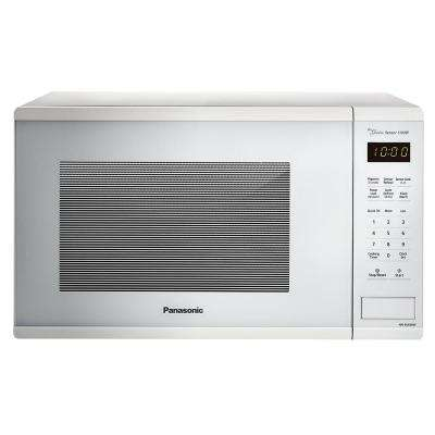 1.3 cu. ft. Countertop Microwave in White with Genius Cooking Sensor