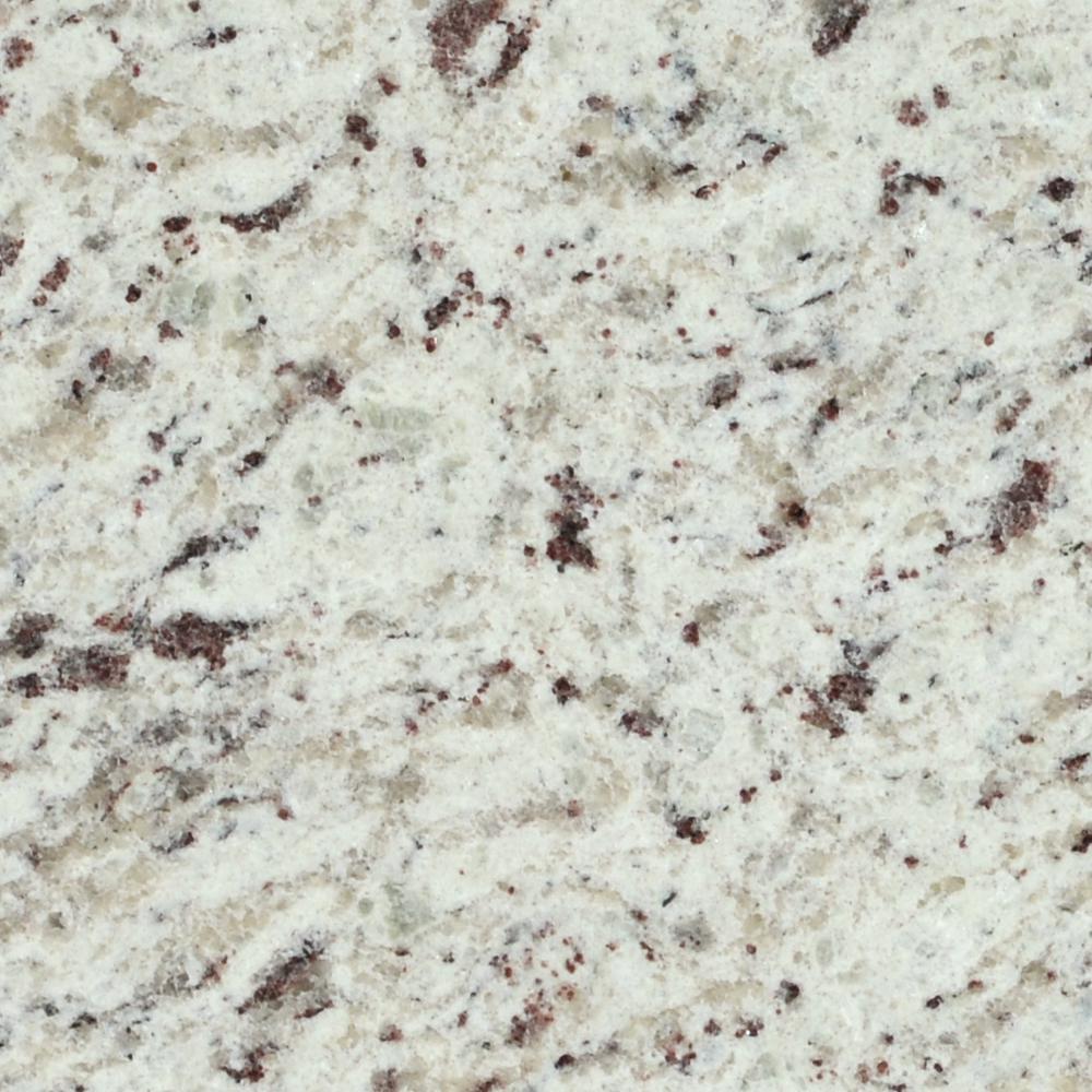 3 in. x 3 in. Granite Countertop Sample in White Ornamental