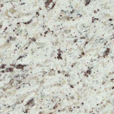 3 in. x 3 in. Granite Countertop Sample in White Ornamental
