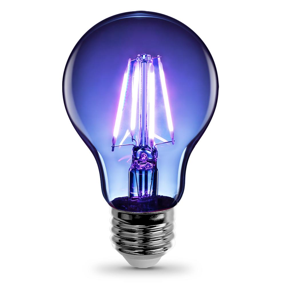 25W Equivalent Blue-Colored A19 Dimmable Filament LED Clear Glass Light Bulb