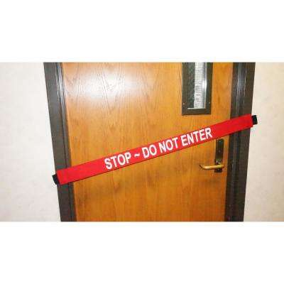 Nylon Safety Barrier with Magnetic Ends Stop Do Not Enter Imprint Fits up to a Standard 36 in. W Doorway