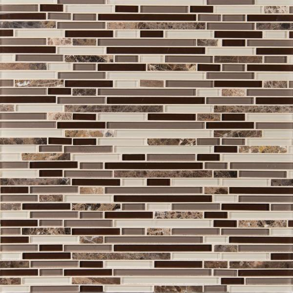 Royal Oaks 12 in. x 12 in. x 8 mm Glass Marble Mesh-Mounted Mosaic Tile (1 sq. ft.)