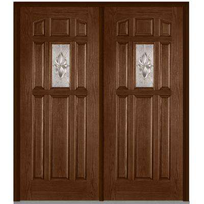 8 Panel Double Door Fiberglass Doors Front Doors The Home Depot
