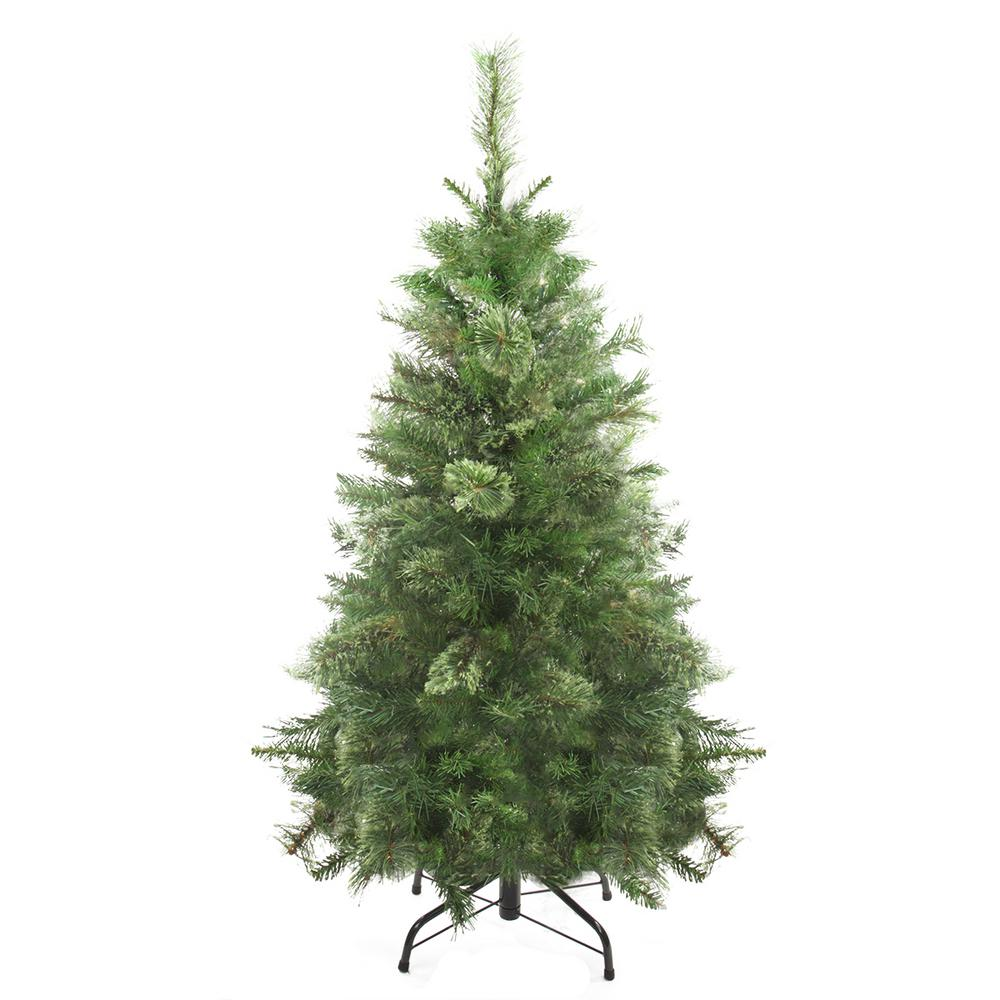 Pvc Christmas Trees.Northlight 4 Ft Unlit Atlanta Mixed Cashmere Pine Medium Artificial Christmas Tree