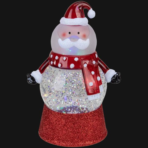 7.25 Santa Claus LED Lighted Swirling Glitter Water Globe Christmas Tabletop Decoration