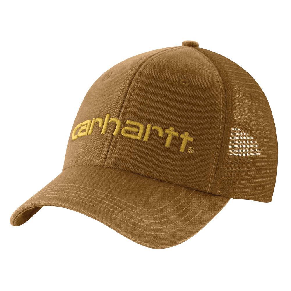 32363fe569f Carhartt Men s OFA Oiled Walnut Cotton Dunmore Mesh Back Cap Hat Liner