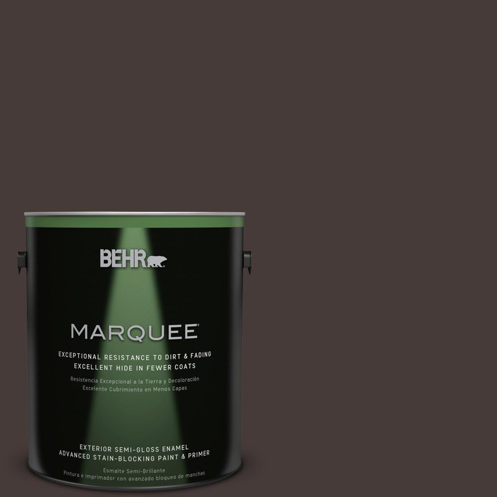 1 gal. #T18-04 Nocturne Shade Semi-Gloss Enamel Exterior Paint