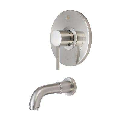 Motegi 1-Handle Tub Trim Kit in Brushed Nickel (Valve Not Included)