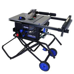 Delta 15 Amp 10 in. Left Tilt 30 in. Portable Jobsite Table Saw