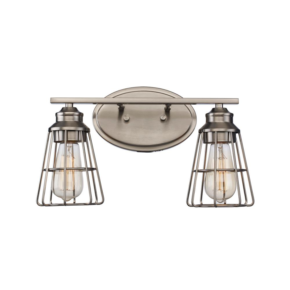 Bel Air Lighting 8 In 2 Light Brushed Nickel Vanity Light