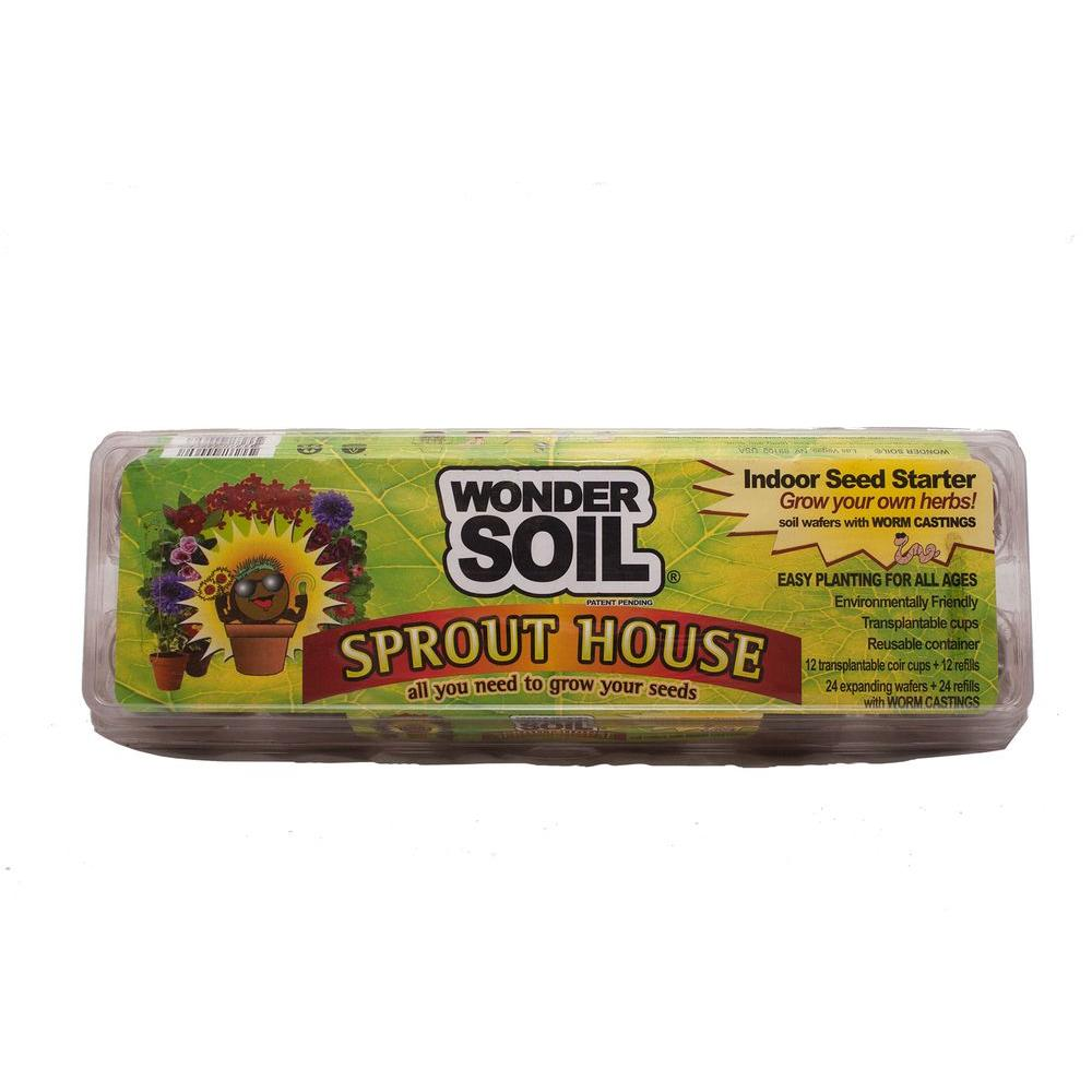 Sprout House Greenhouse with Coco Coir Cups