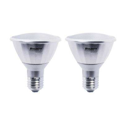 75W Equivalent Soft White PAR30LN Dimmable LED Wet Rated Light Bulb (2-Pack)