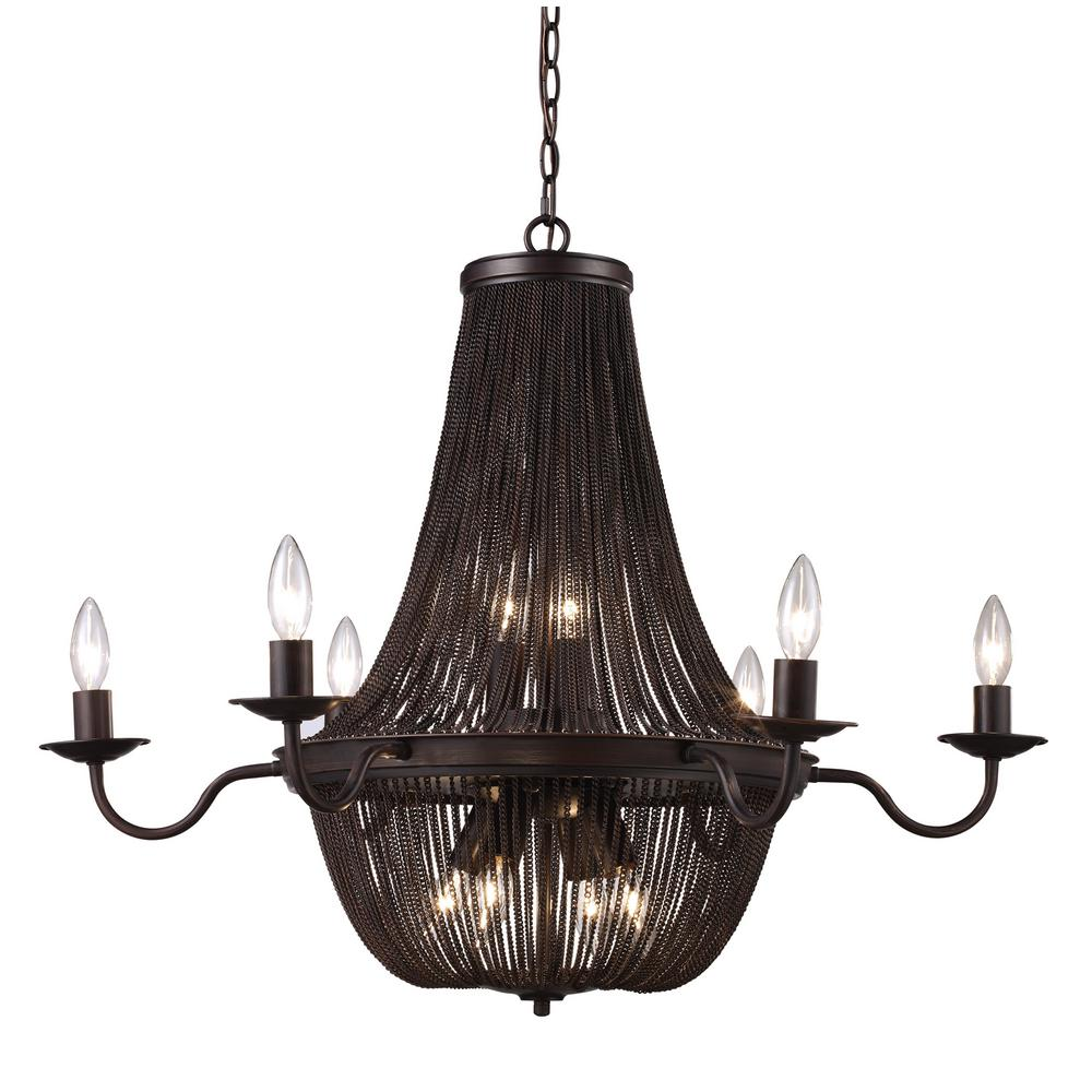 Bel Air Lighting Bramble Stone 13-Light Rubbed Oil Bronze Chandelier ...