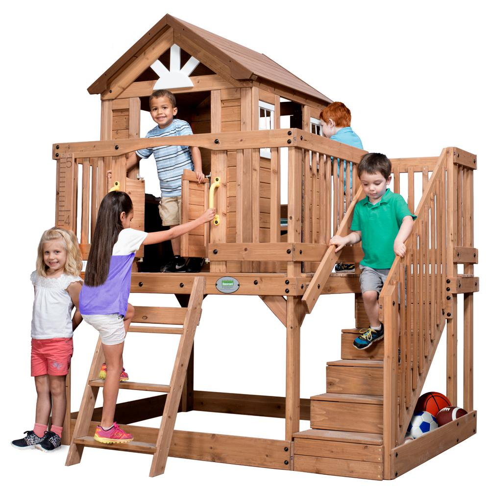 Backyard Discovery Scenic Heights Cedar Playhouse 1605336com The