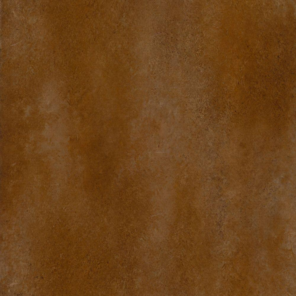 TrafficMASTER Ceramica Russet Brown 12 in. x 12 in. Resilient Vinyl Tile Flooring (30 sq. ft. / case)