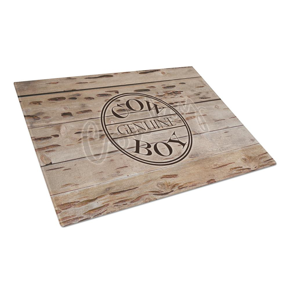 Genuine Cow Boy Branded Tempered Glass Large Cutting Board