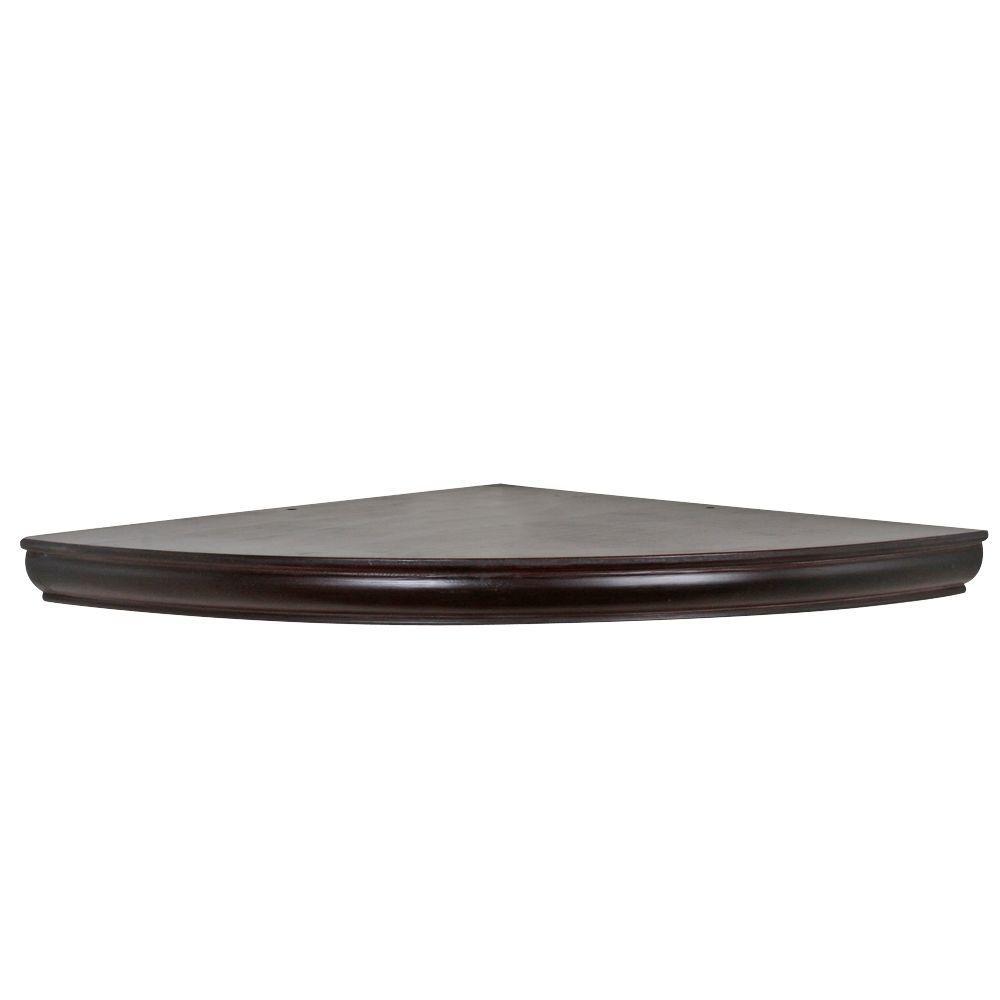 Home Decorators Collection 18 In X 1 3 4 In H Espresso Floating Corner Shelf Hdcaec18e The