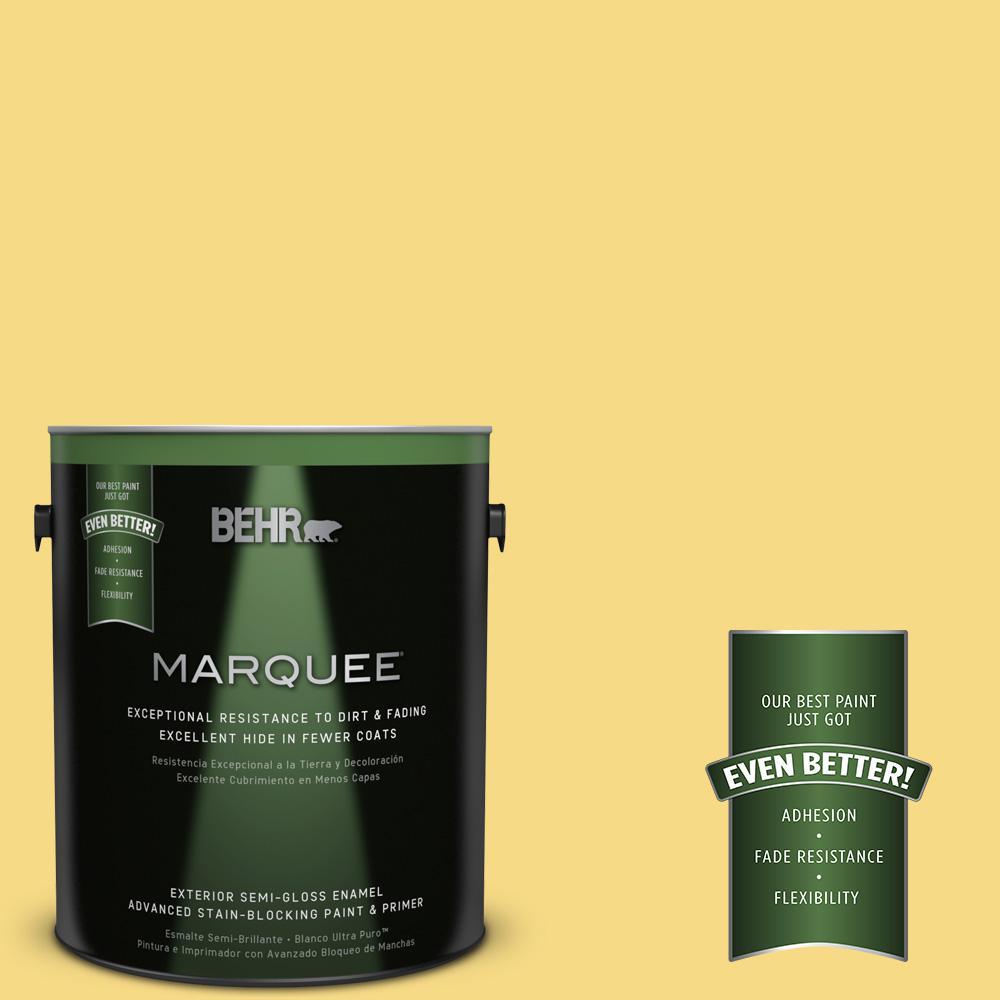 BEHR MARQUEE 1-gal. #390B-5 Bee Pollen Semi-Gloss Enamel Exterior Paint