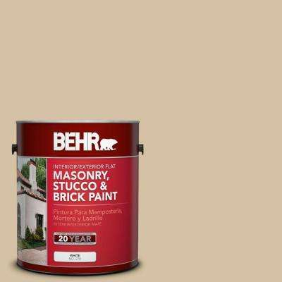 1-gal. #MS-22 Dune Flat Interior/Exterior Masonry, Stucco and Brick Paint