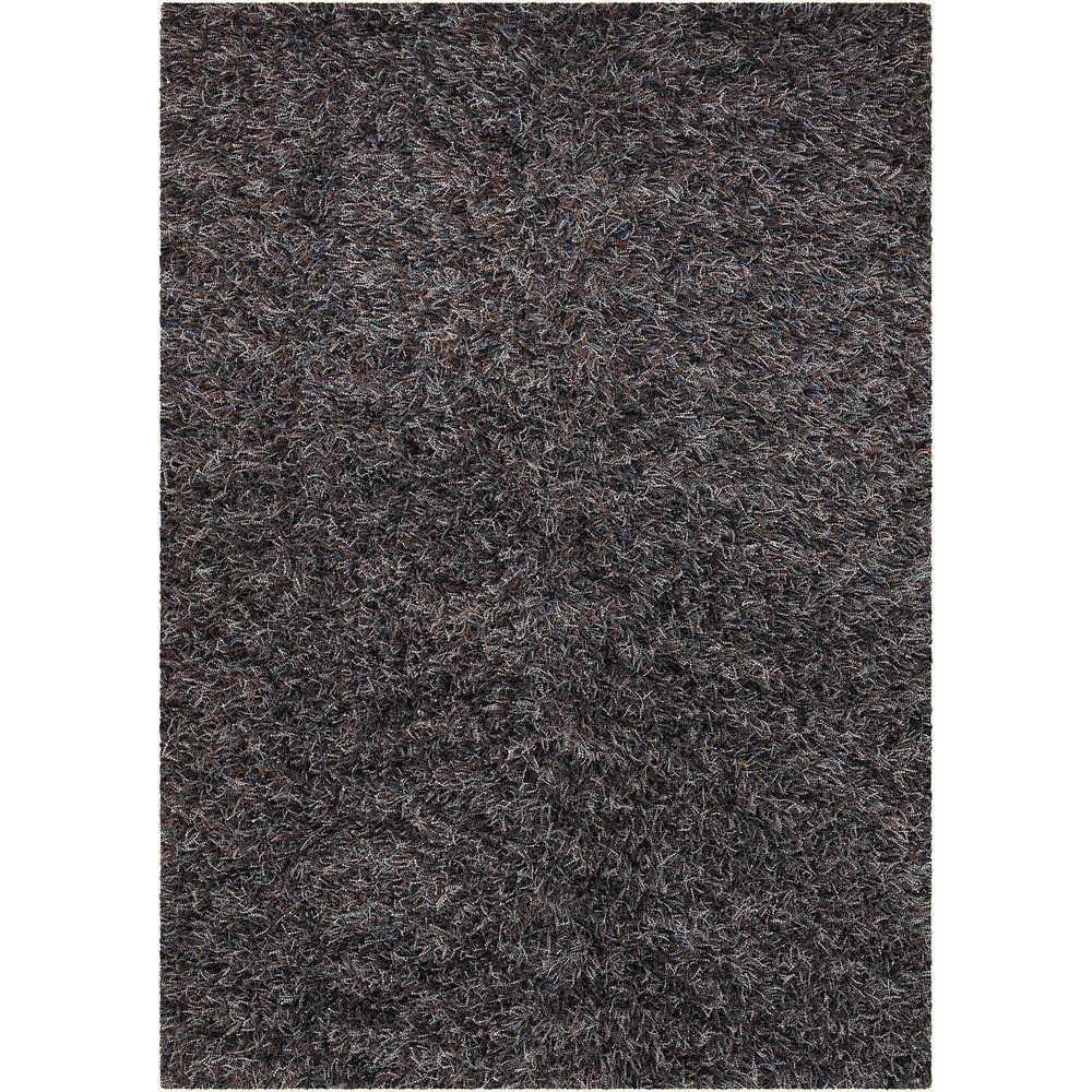 Chandra Astrid Brown Blue Grey Black 8 Ft X 11 Ft Indoor Area Rug