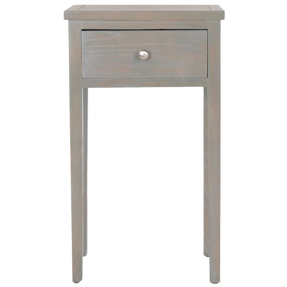 Abel Ash Grey Storage End Table