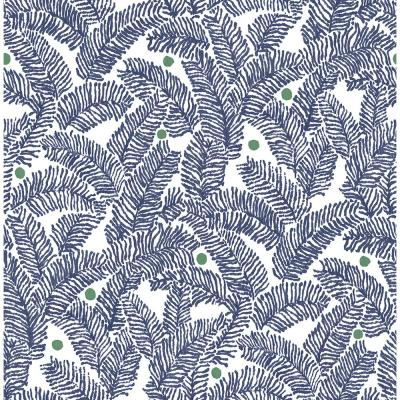 Athina Navy Fern Strippable Wallpaper (Covers about 56.4 sq. ft.)