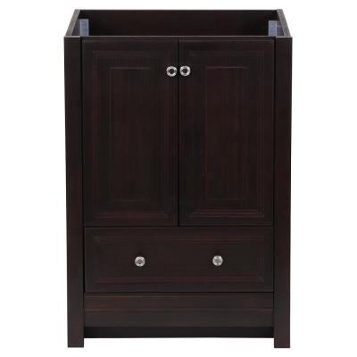 Brinkhill 24 in. W x 22 in. D x 34 in. H Bath Vanity Cabinet Only in Chocolate