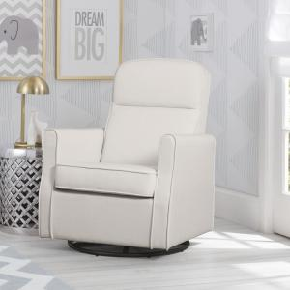 Internet #306069043. +2. Delta Children Cream Blair Glider Swivel Rocker  Chair