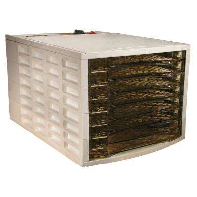 8-Tray Brown and White Food Dehydrator with Cover