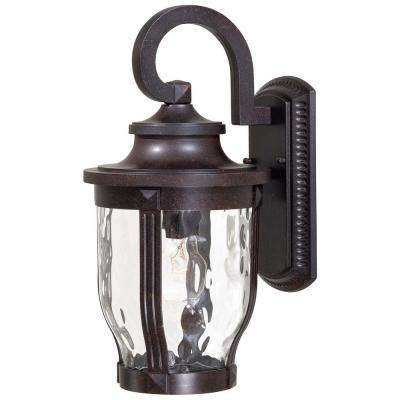 Merrimack 1-Light Corona Bronze Outdoor Wall Mount Lantern