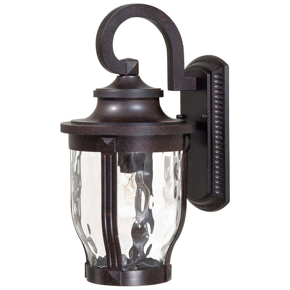 Merrimack 1-Light Corona Bronze Outdoor Wall Mount Lantern