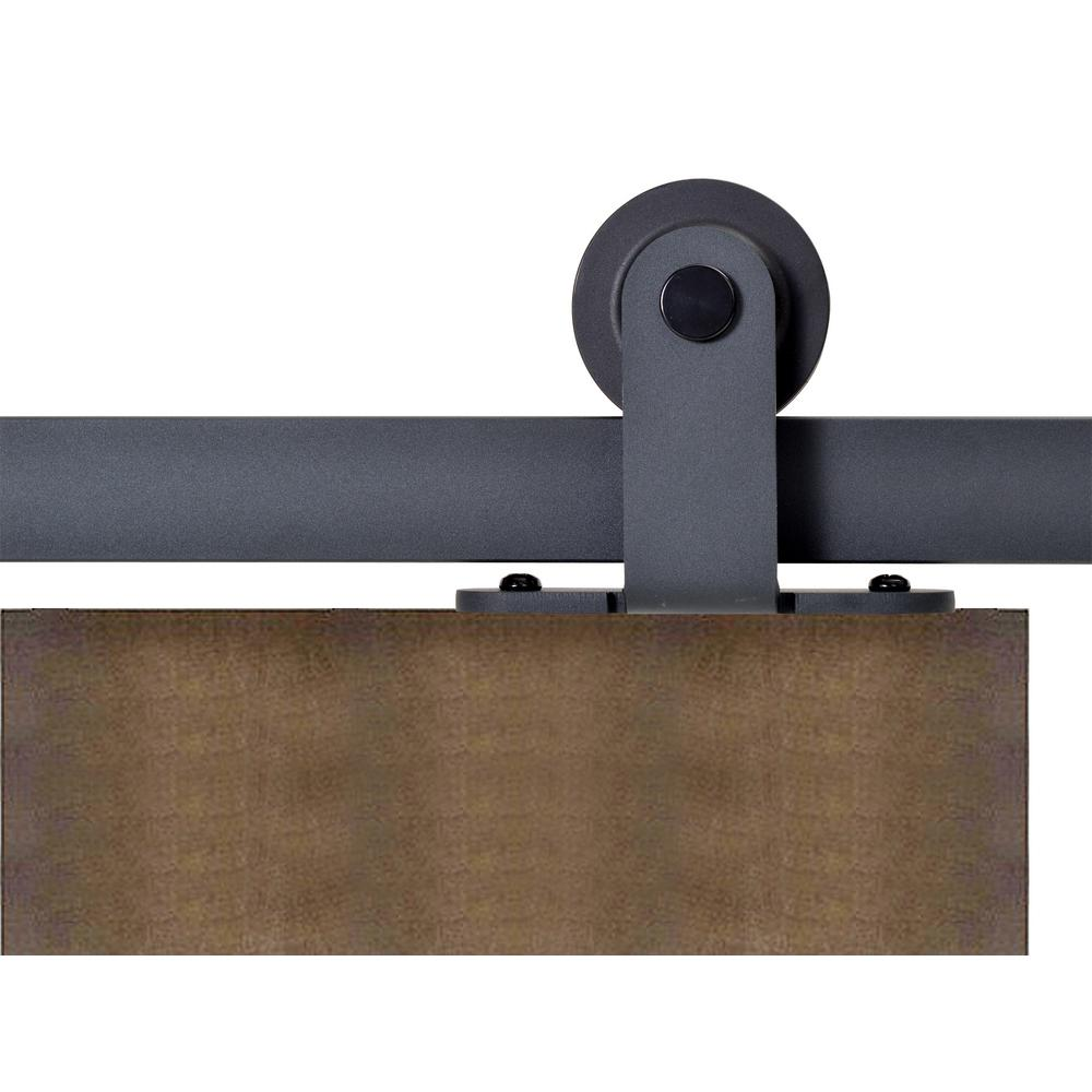 Calhome Top Mount 72 In Matte Black Barn Style Sliding Door Track