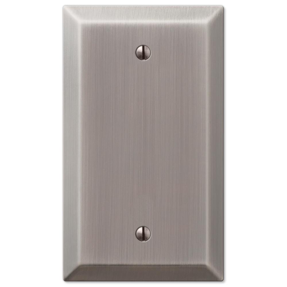 Metallic 1 Gang Blank Steel Wall Plate - Antique Nickel