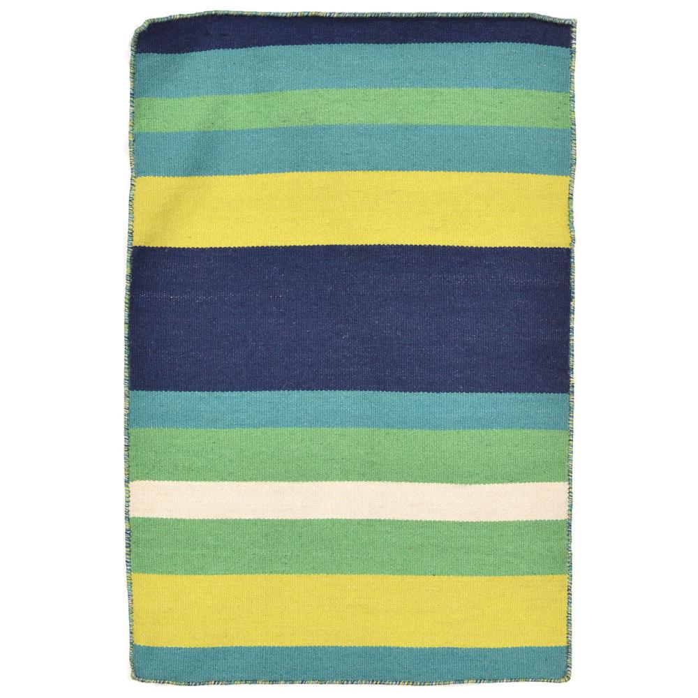 Bright Outdoor Area Rugs: Tasso Bright Stripe Green 2 Ft. X 3 Ft. Rectangle Indoor