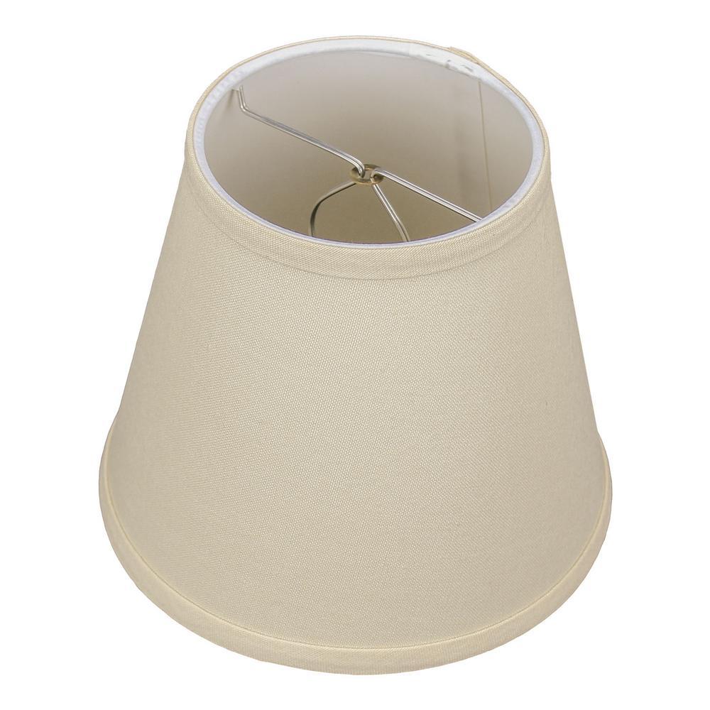 Fenchel Shades 5 in. Top Diameter x 8 in. Bottom Diameter x 7 in. Slant Empire Lamp Shade - Linen Beige