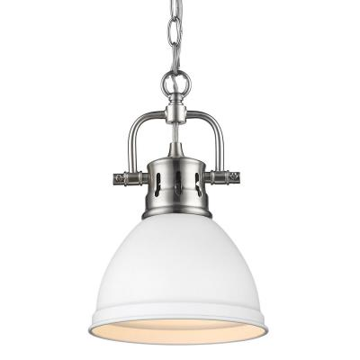 Duncan 1-Light Pewter Mini Pendant