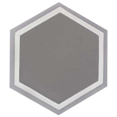 Cemento Hex Holland Strait Encaustic 7-7/8 in. x 9 in. Cement Handmade Floor and Wall Tile
