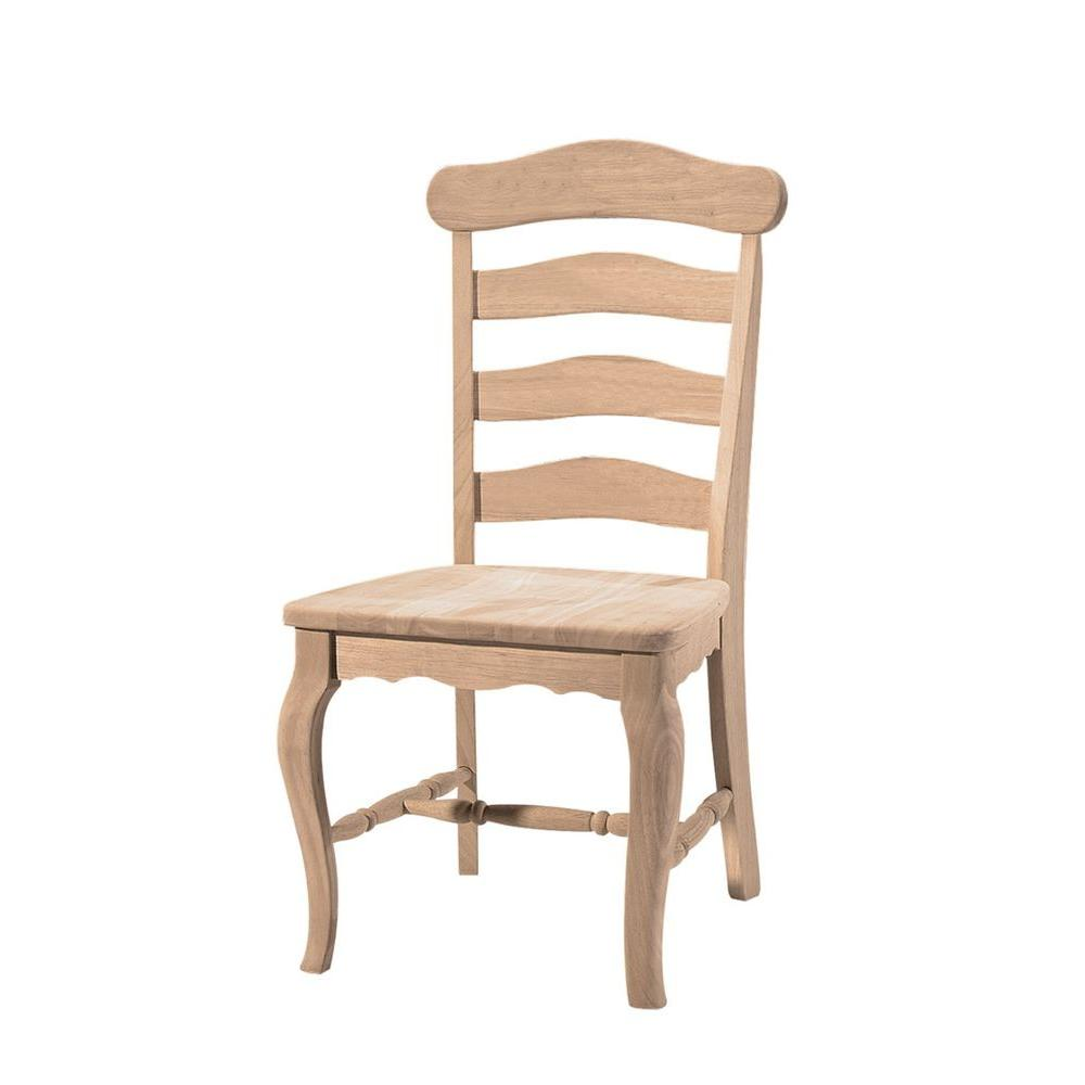 International Concepts Unfinished Wood Dining Chair (Set ...