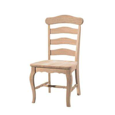 Unfinished Wood Dining Chair (Set of 2)